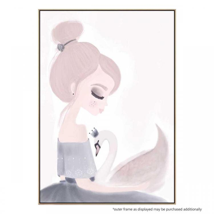 Ivy and Miss Swan - Canvas Print - Natural Frame - ONE ONLY