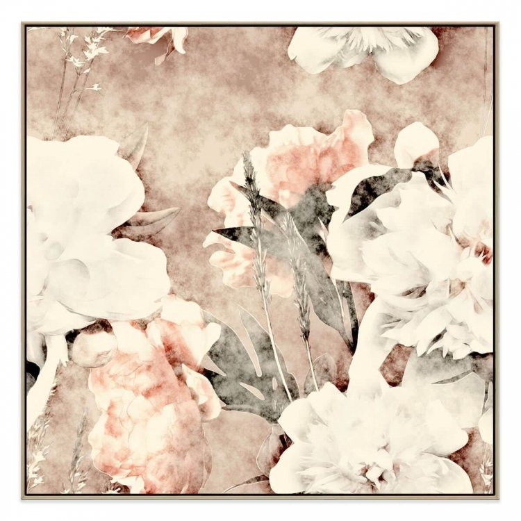 Paper And Rose - Canvas Print - Natural Frame - ONE ONLY