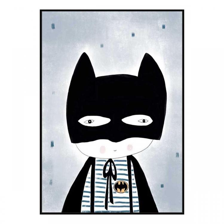 Be Batman - Canvas Print - Black Frame - ONE ONLY