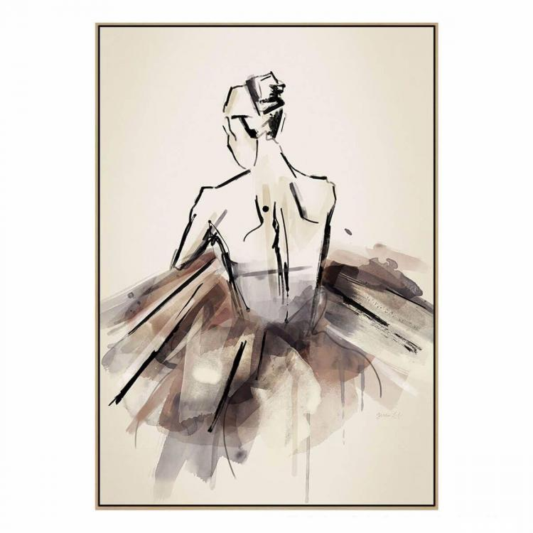 THE BALLERINA - NATURAL SHADOW FRAME - ONE ONLY