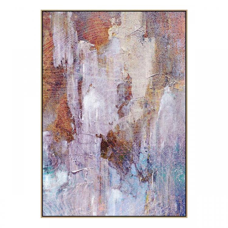 Painted Land - Canvas Print - Natural Shadow Frame - (Clearance)