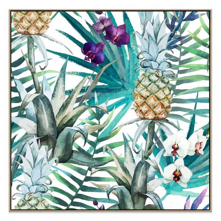 Pina - Canvas Print - Natural Shadow Frame - (Clearance)