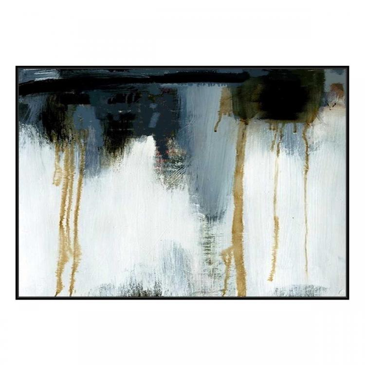 Gold Water - Painting - Black Shadow Frame (Clearance)