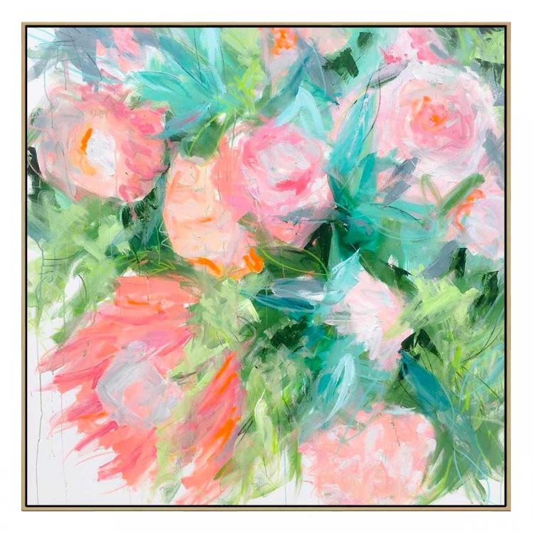 Flower Bed - Painting - Natural Shadow Frame (Clearance)