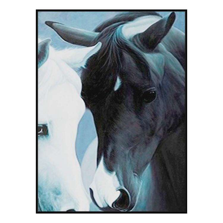 Perfect Match - Painting - Black Floating Frame (Clearance)