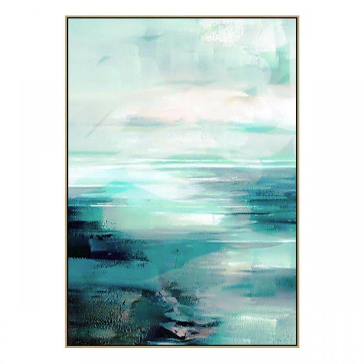 Dena Ru Flats - Painting - Natural Floating Frame (Clearance)