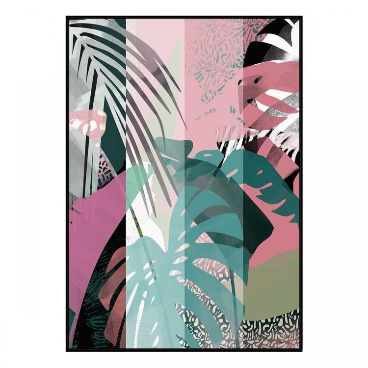 In The Tropics - Painting - Black Floating Frame (Clearance)