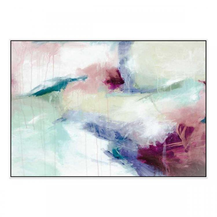 Feeling Love - Painting - White Floating Frame (Clearance)