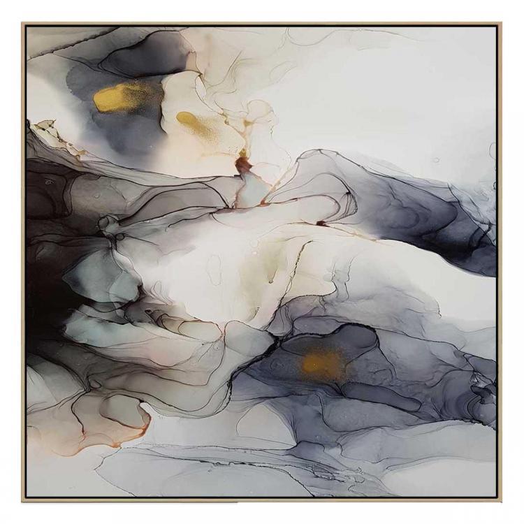 Ink Composition 10 - Print - Natural Floating Frame (FLASH SALE)