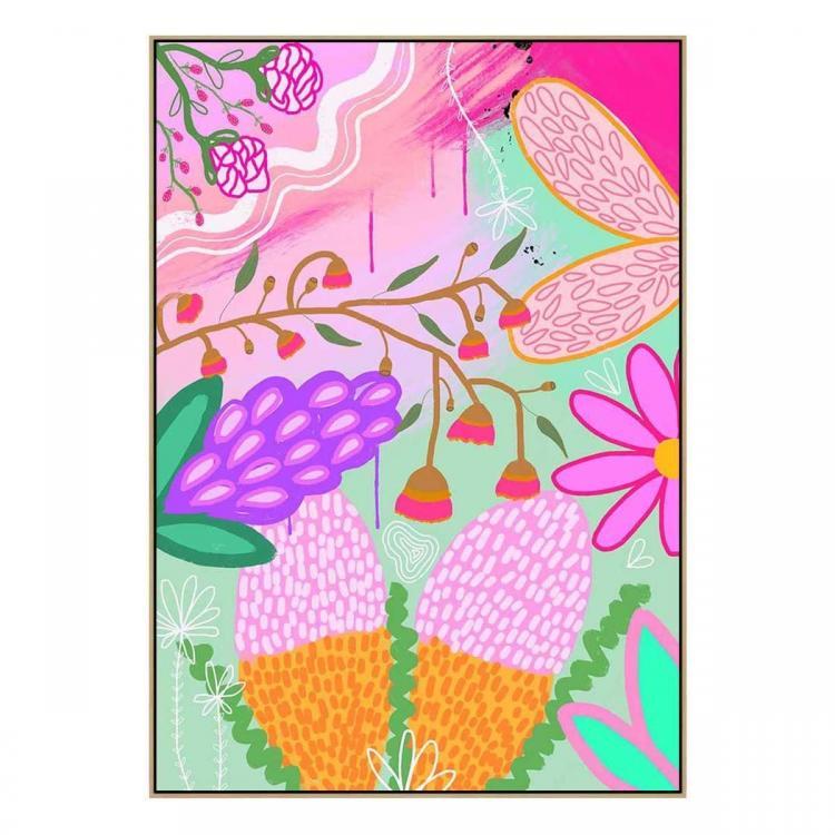 Botania No.1 - Print - Natural  Floating Frame (FLASH SALE)