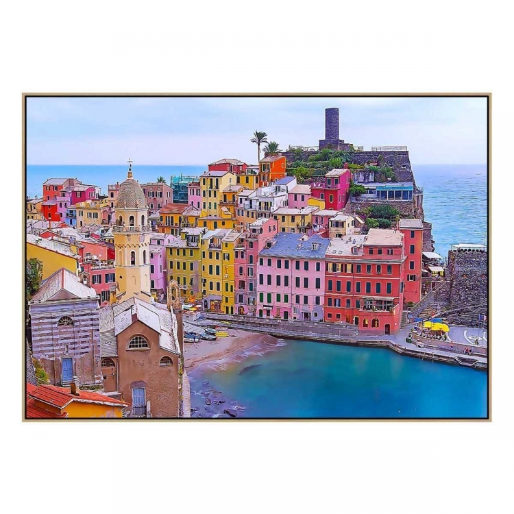 Vernazza 2 - Print - Natural Floating Frame (FLASH SALE)