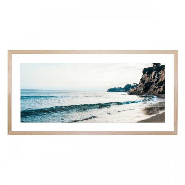 Soft Shores - Framed Print - White Frame