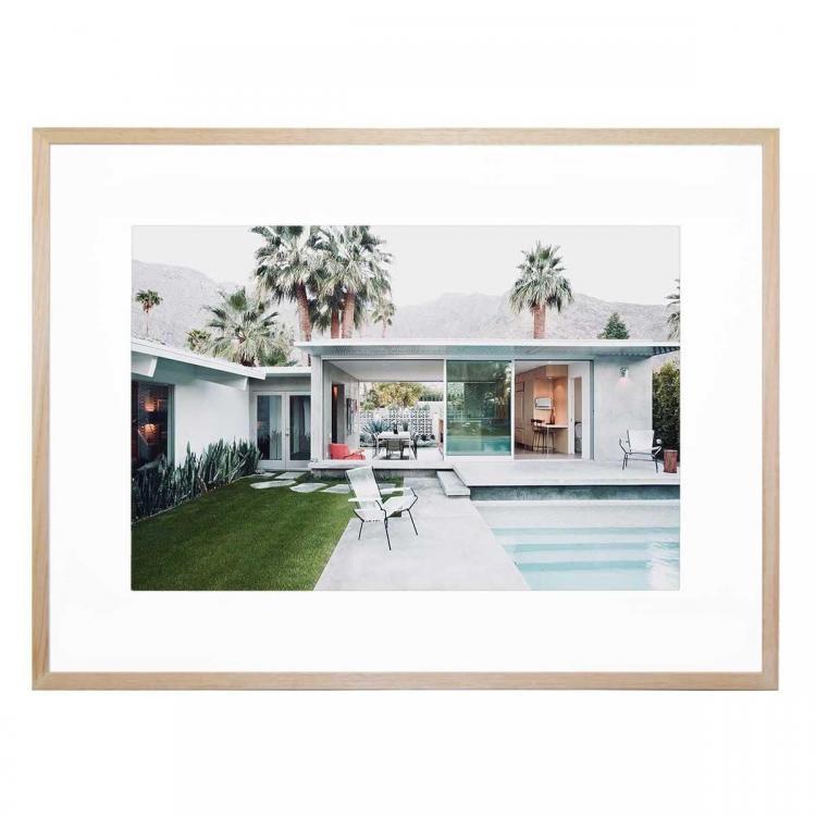 Palm Springs Cool - Framed Print - Natural Frame