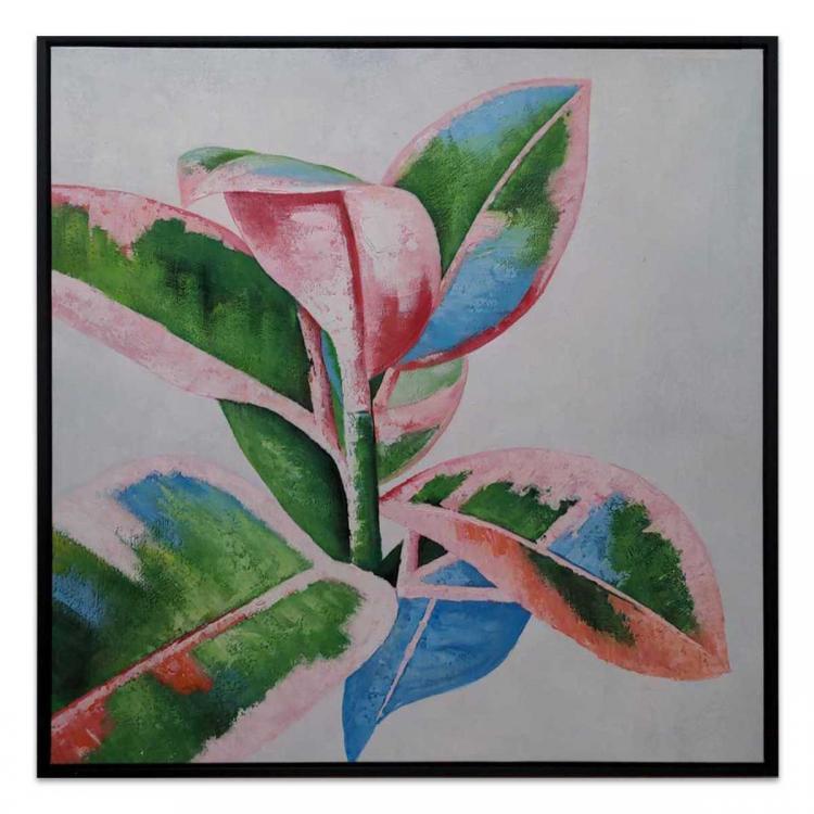 Botanical Harmony - Painting - Black Floating Frame
