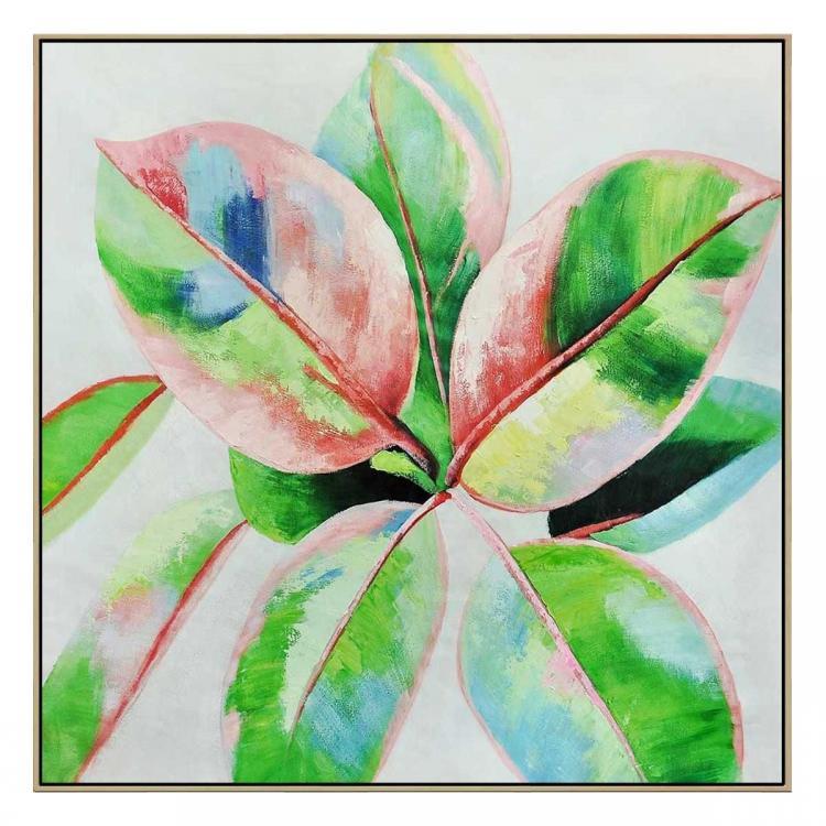 Living Color II - Painting - Natural Floating Frame