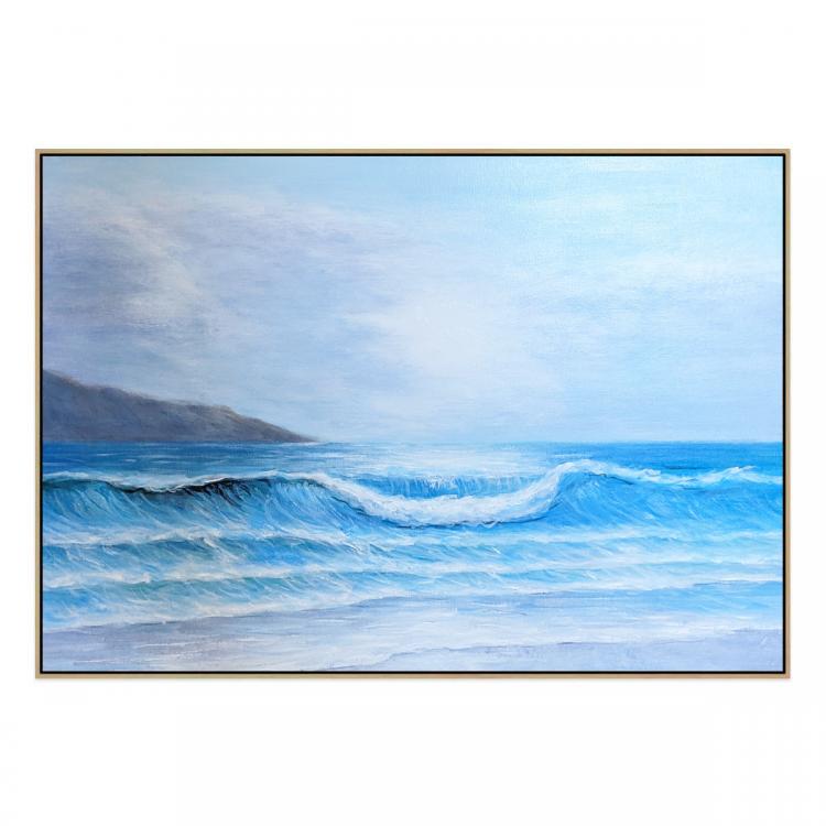 Sardegna - Painting - Natural Floating Frame