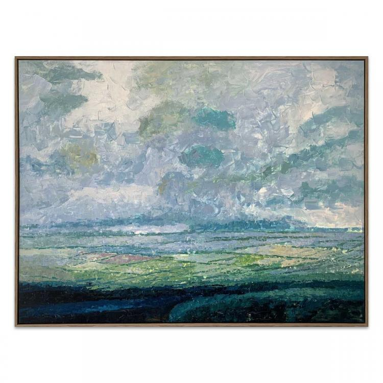 Over The Range - Painting - Natural Floating Frame
