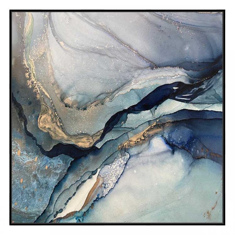 Deep Blue 1 - Print - Black Floating Frame