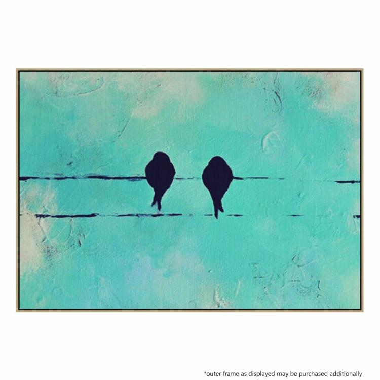 Birds on a Wire - Painting