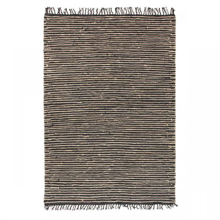 Atrium Delta Rug - Natural/Black