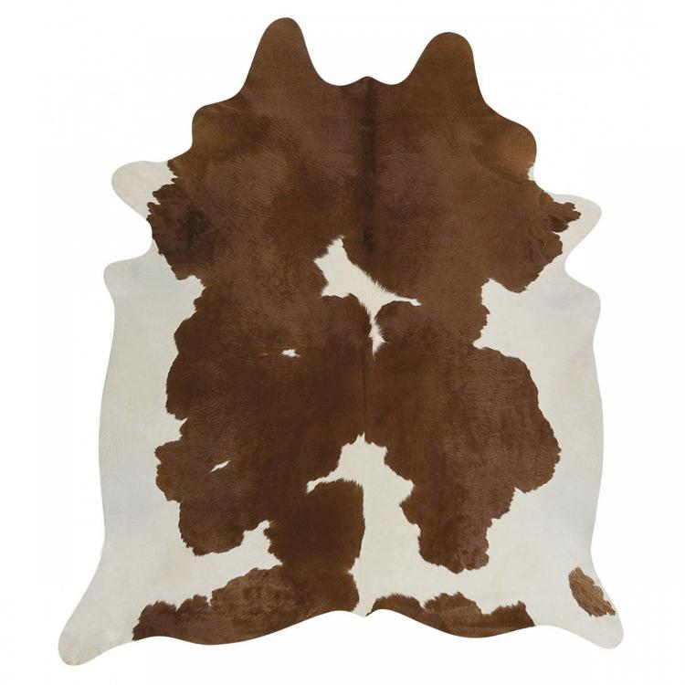 Premium Brazilian Cowhide - Brown & White