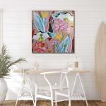 Foglia Magnifica - Painting - Natural Floating Frame