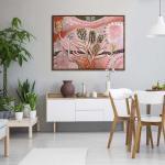SPIRIT OF BYRON 2 - Painting - Natural Floating Frame