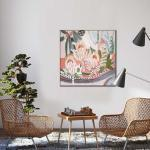 Terra and Flora 1 - Painting - Natural Floating Frame
