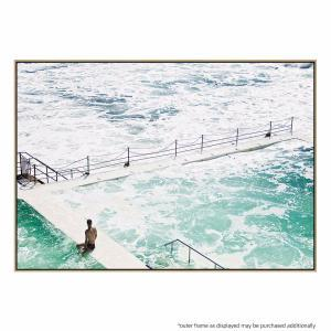 Lone Swimmers Beach - Print