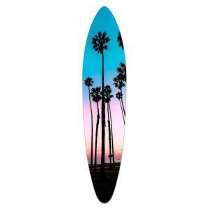 Santa Barbara Palms - Acrylic Surfboard