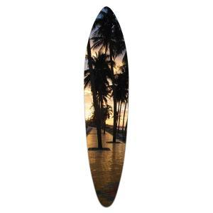 Sunset Palms - Acrylic Surfboard