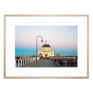 St Kilda Pier - Framed Print - Natural Frame - ONE ONLY