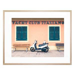 Italian Yacht Club - Framed Print - Natural Frame - ONE ONLY