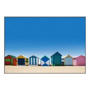 Brighton Boxes - Canvas Print - White Frame - ONE ONLY