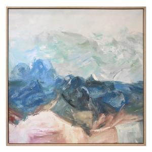 Mountains Of Hope - Hand Painting - Natural Frame - ONE ONLY