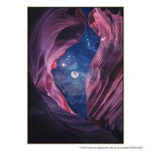 Grand Canyon With Space - Full Moon Collage II - Print