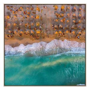 Sand And Sunset - Canvas Print - Natural Frame - ONE ONLY