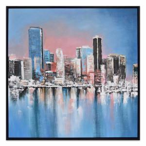 Hot In The City - Hand Painting - Black Frame - ONE ONLY