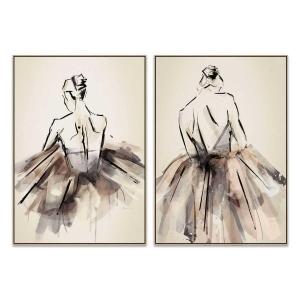 Always Ballet - The Ballerina - Canvas Print - Natural - ONE ONL