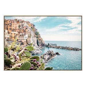 Manarola 1 - Canvas Print - Natural Frame - ONE ONLY