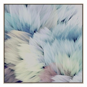 Flori Star - Canvas Print - Natural Frame - ONE ONLY