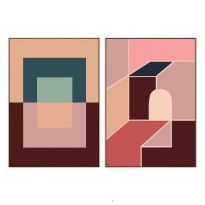 Motif 4 - Motif 7 - Canvas Prints - Natural Frame - ONE ONLY