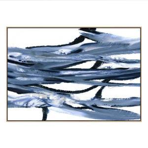 Marble Waves 2 - Canvas Print - Natural Frame - ONE ONLY