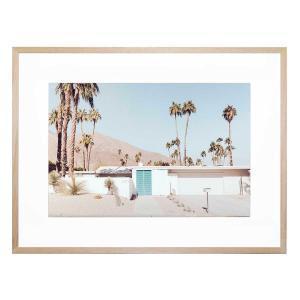 The Blue Door - Framed Print - Natural Frame - ONE ONLY