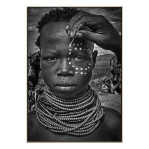 Karo Tribe Girl - Canvas Print - Natural Frame - ONE ONLY