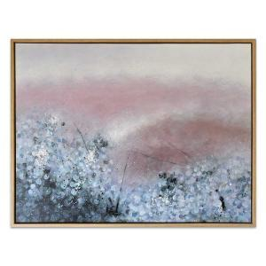 Mauve Mosaic - Painting - Natural Frame - One Only