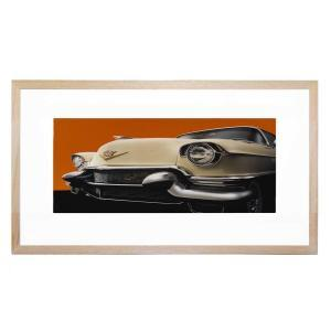 Cadillac - Framed Print - Natural Frame - ONE ONLY