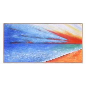 Long Beach - Painting - Natural Frame - One Only