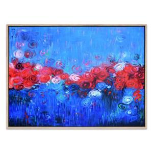 Roses on the Horizon - Painting - Natural Frame - One Only