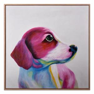 Doggy See - Painting - Natural Frame - One Only